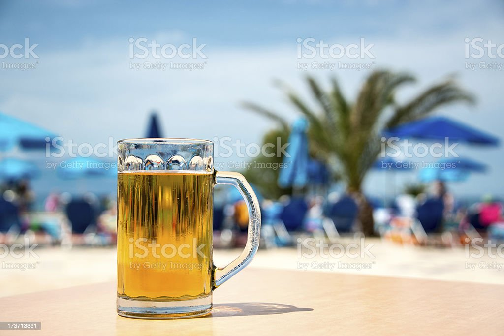 Beer in the sun royalty-free stock photo