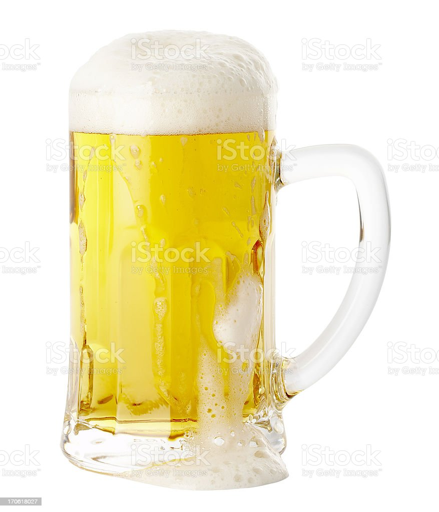 Beer, isolated on white background royalty-free stock photo