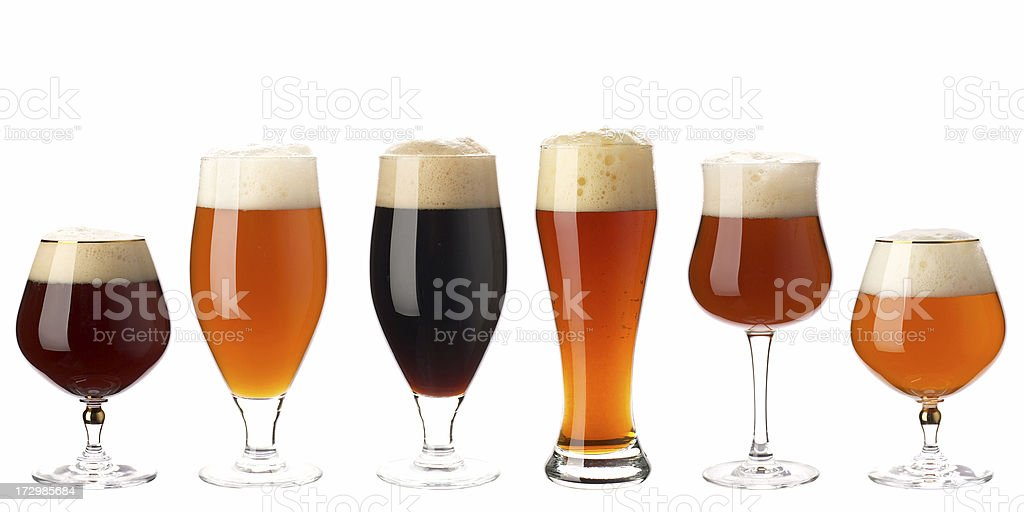 Beer isolated on white stock photo