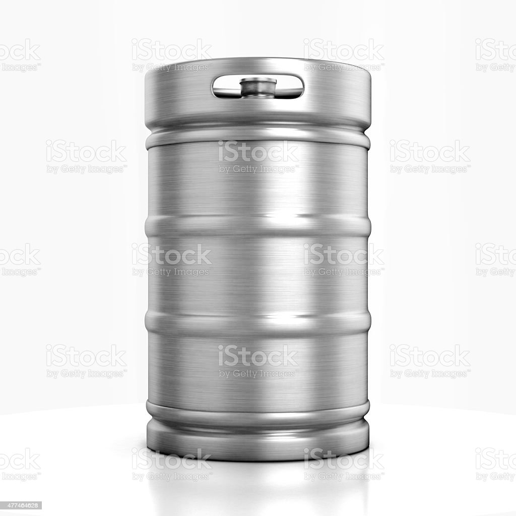 beer keg isolated on white stock photo