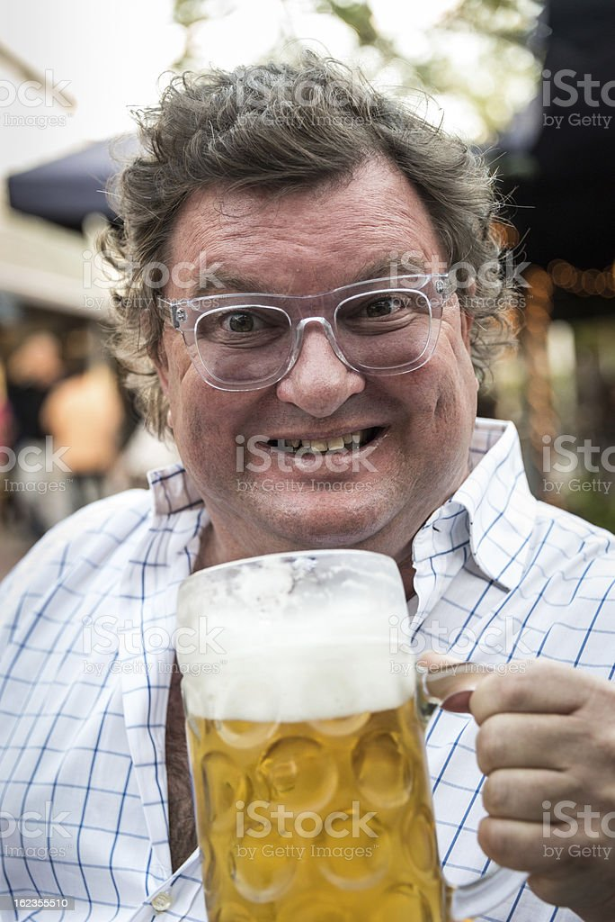 Beer lover royalty-free stock photo