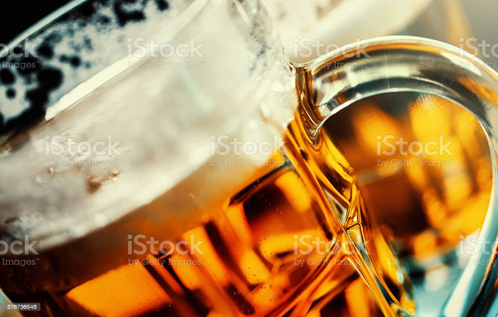 Beer mugs. stock photo