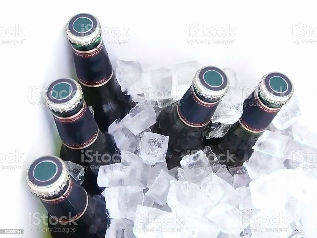 Beer on Ice 2 stock photo