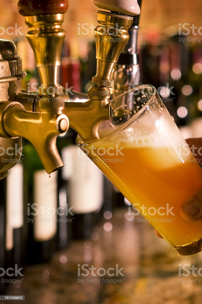 Beer on Tap royalty-free stock photo