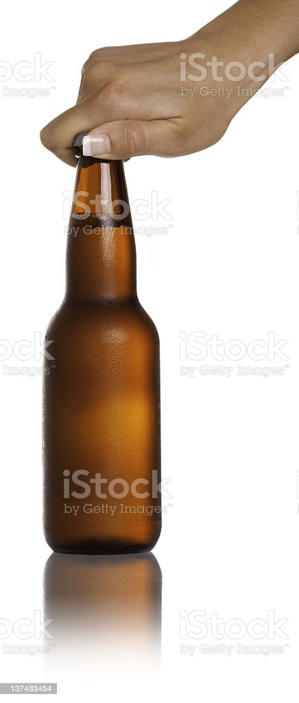 Beer Open Hand royalty-free stock photo