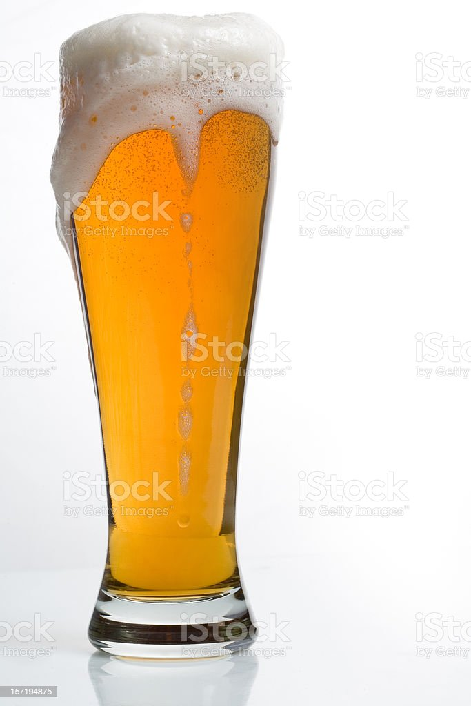 Beer Overfloweth stock photo