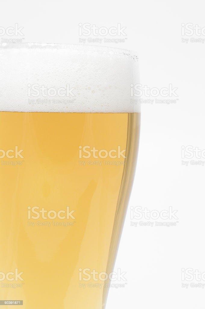 Beer - Pilsner Glass stock photo