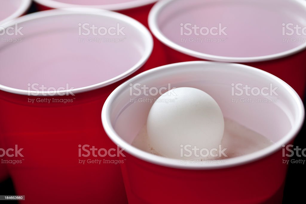 Beer Pong royalty-free stock photo