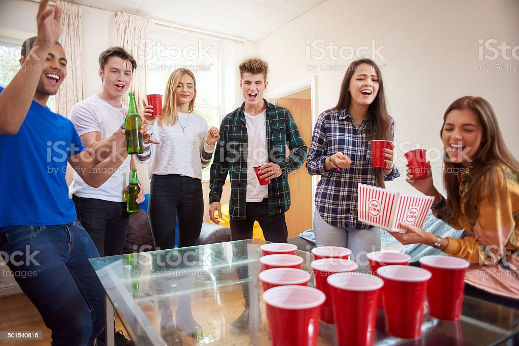 beer pong stock photo