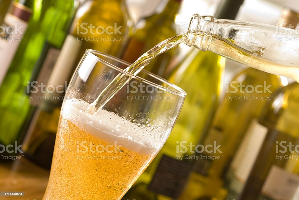 Beer Pour at a restaurant or bar royalty-free stock photo