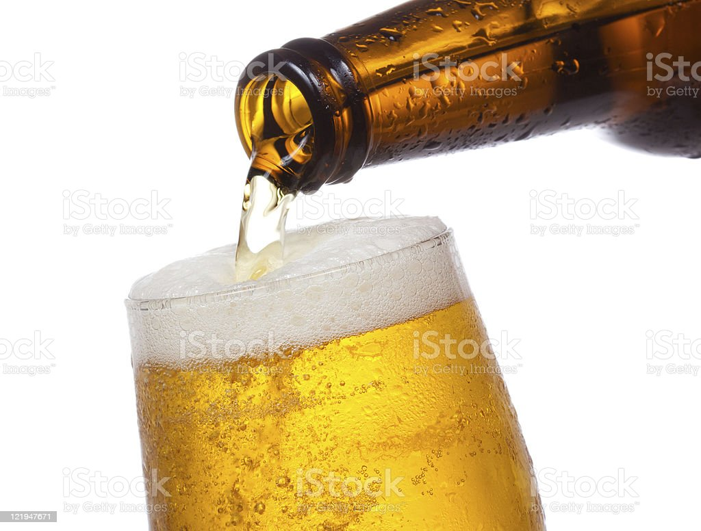Beer pouring into glass royalty-free stock photo