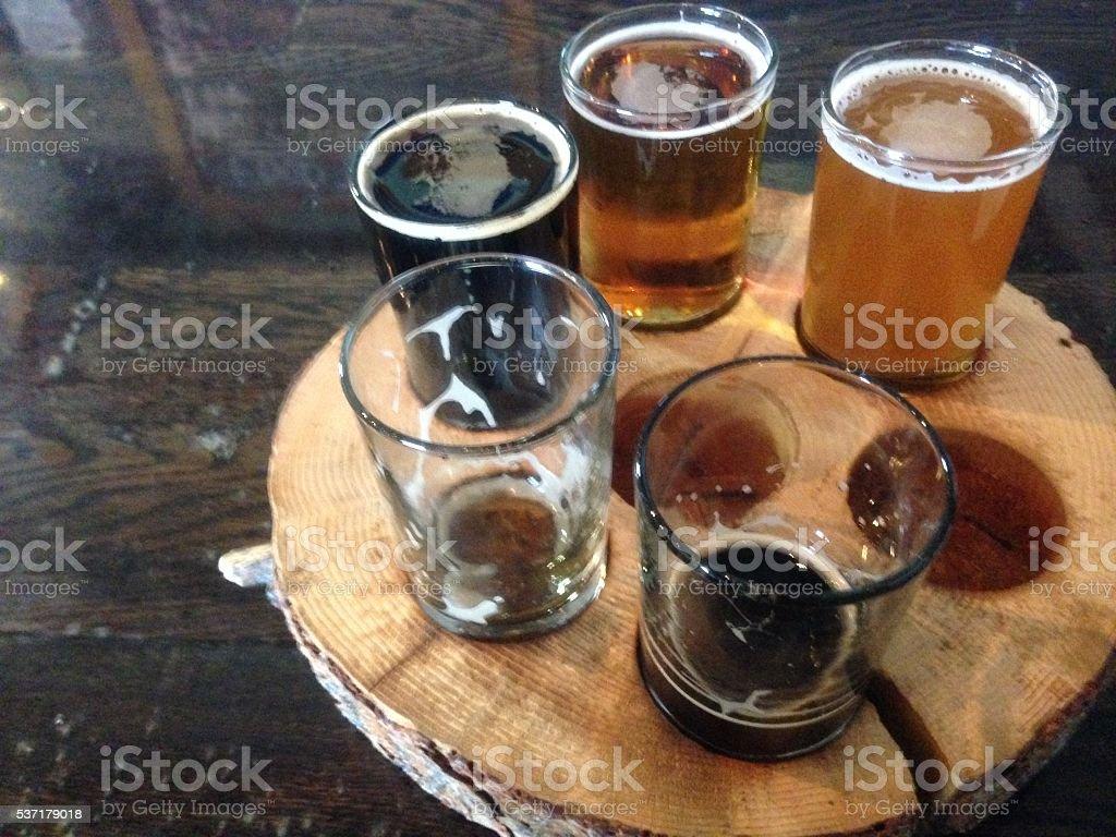 Beer sample stock photo