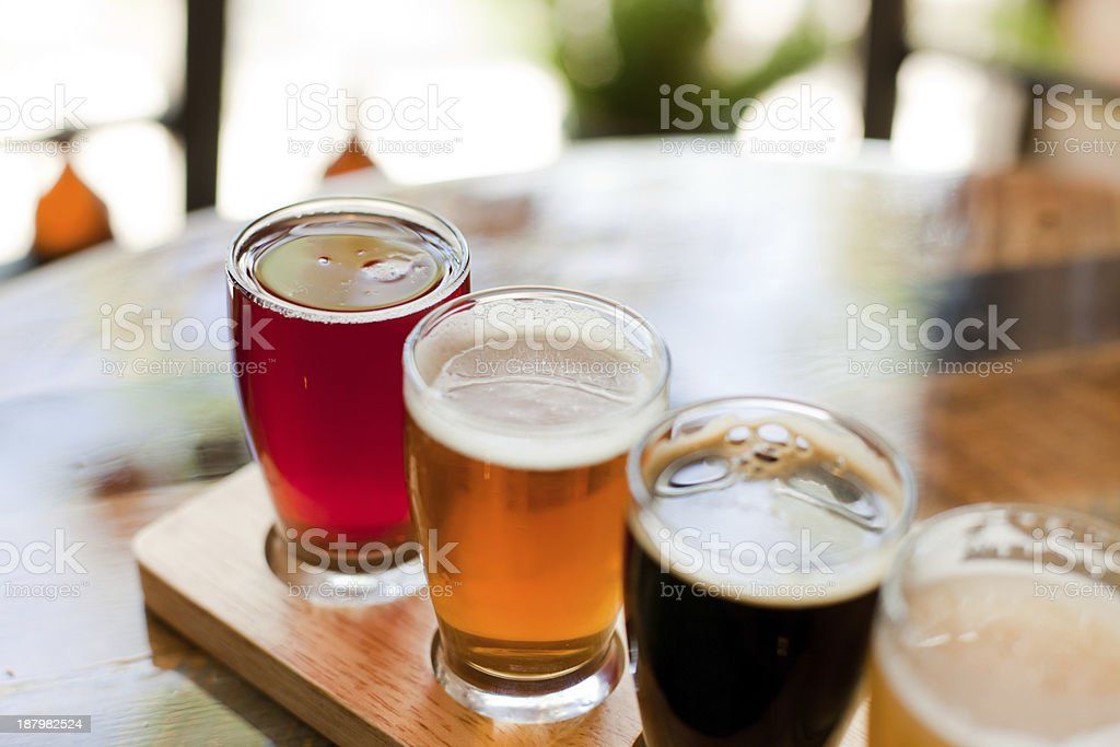 Beer sampler 1 - horizontal stock photo