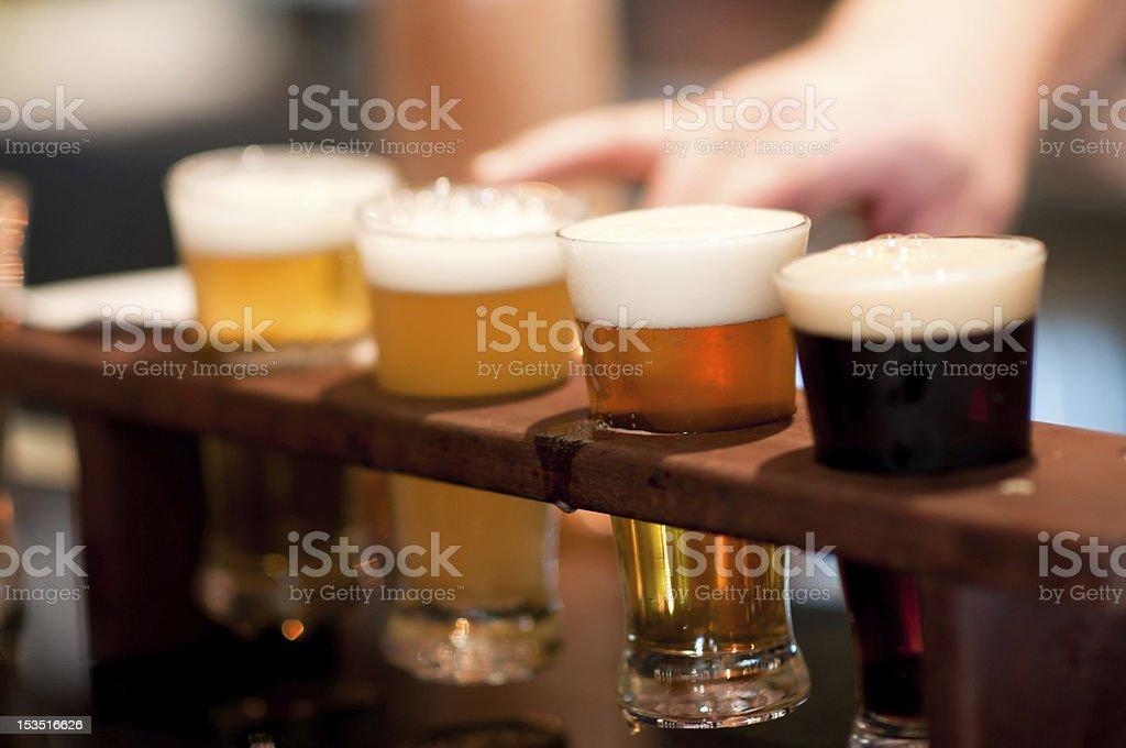 Beer sampler royalty-free stock photo