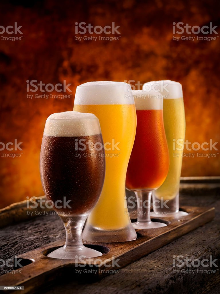 Beer Samplers stock photo