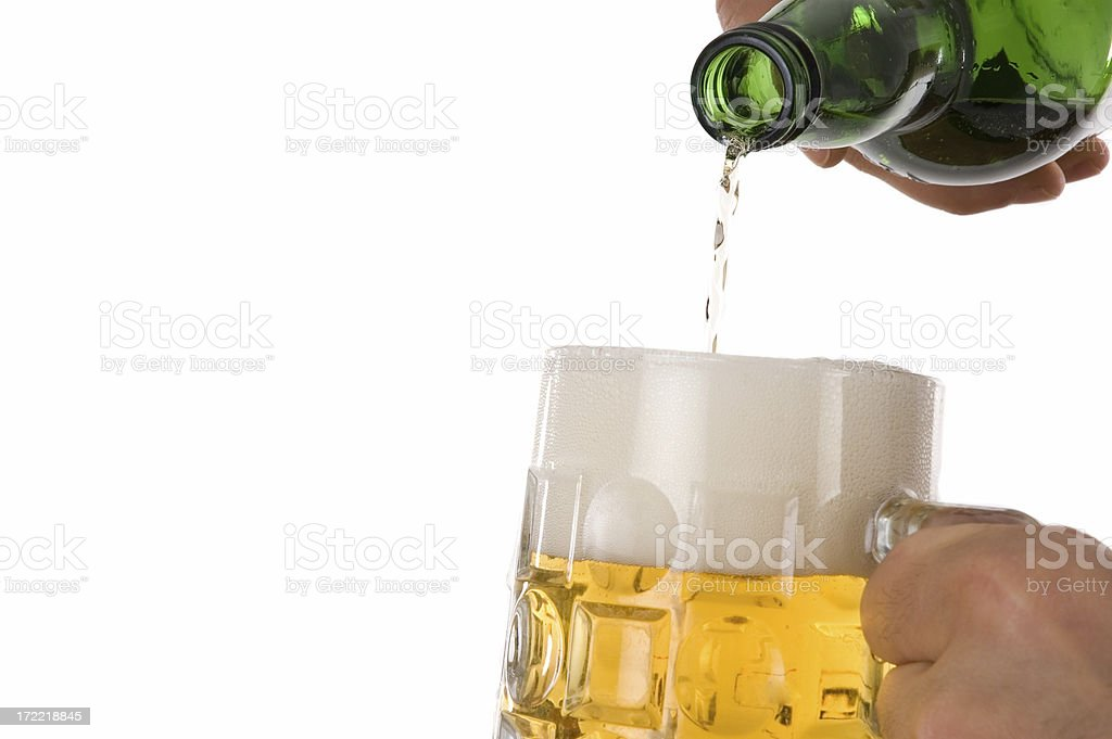 beer service royalty-free stock photo