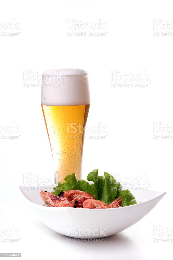 beer shrimp royalty-free stock photo