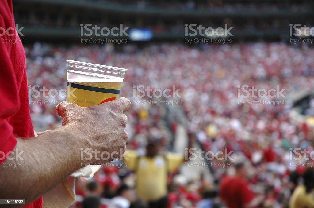 Beer Sport Fan royalty-free stock photo