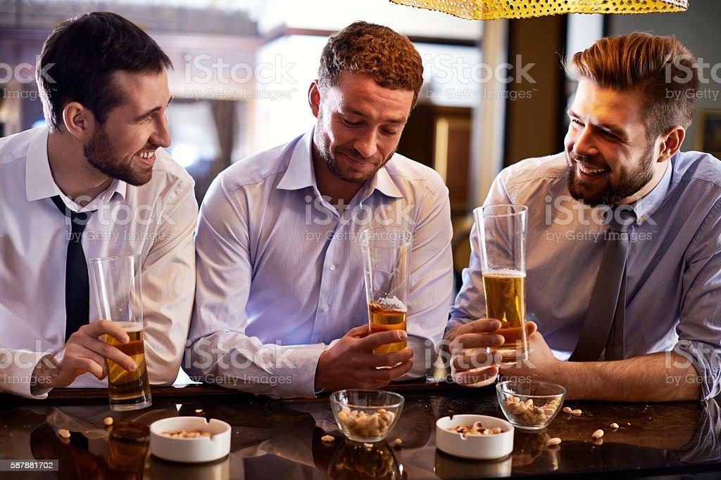 Beer talks stock photo