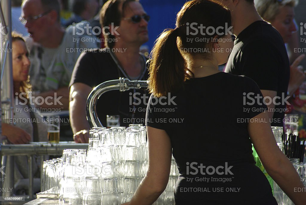 Beer tap at the World Music Concours event Kerkrade stock photo