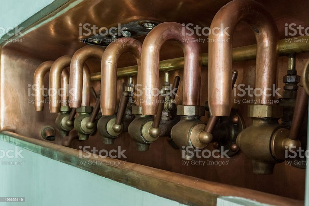 Beer Taps stock photo