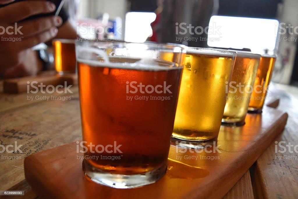 Beer tasting Fargo stock photo