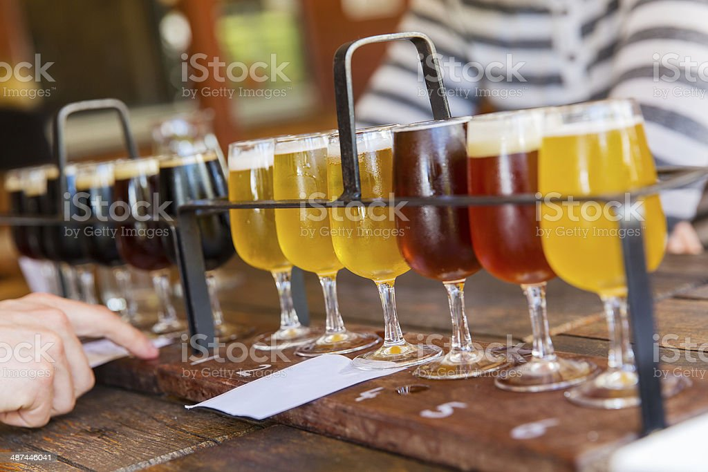 Beer tasting stock photo