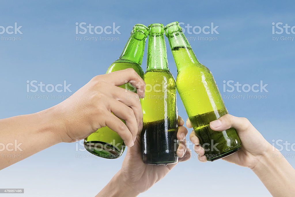 Beer toast stock photo