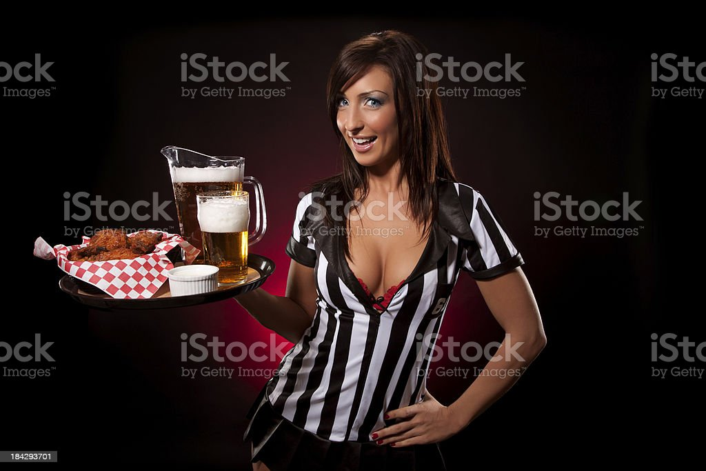 Beer & Wings royalty-free stock photo