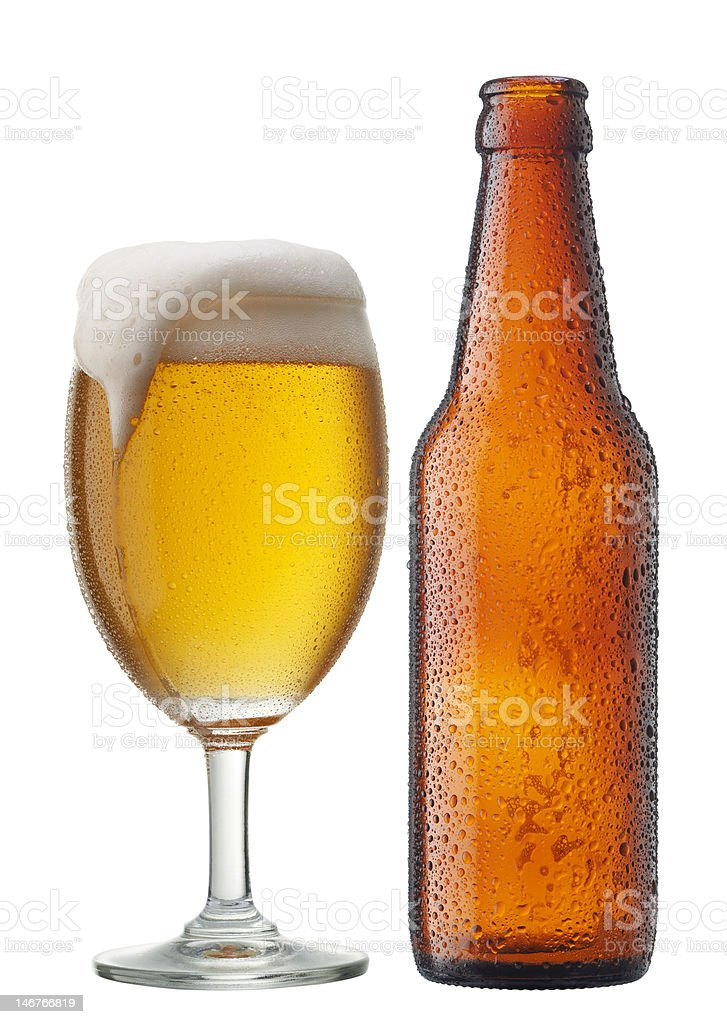 beer with bottle royalty-free stock photo