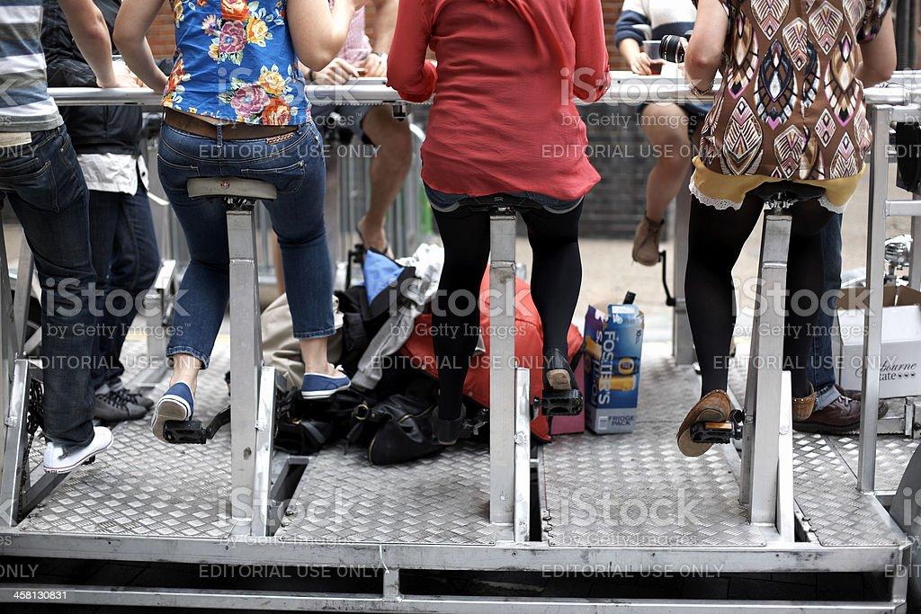 beerbike in london (beerbus) royalty-free stock photo