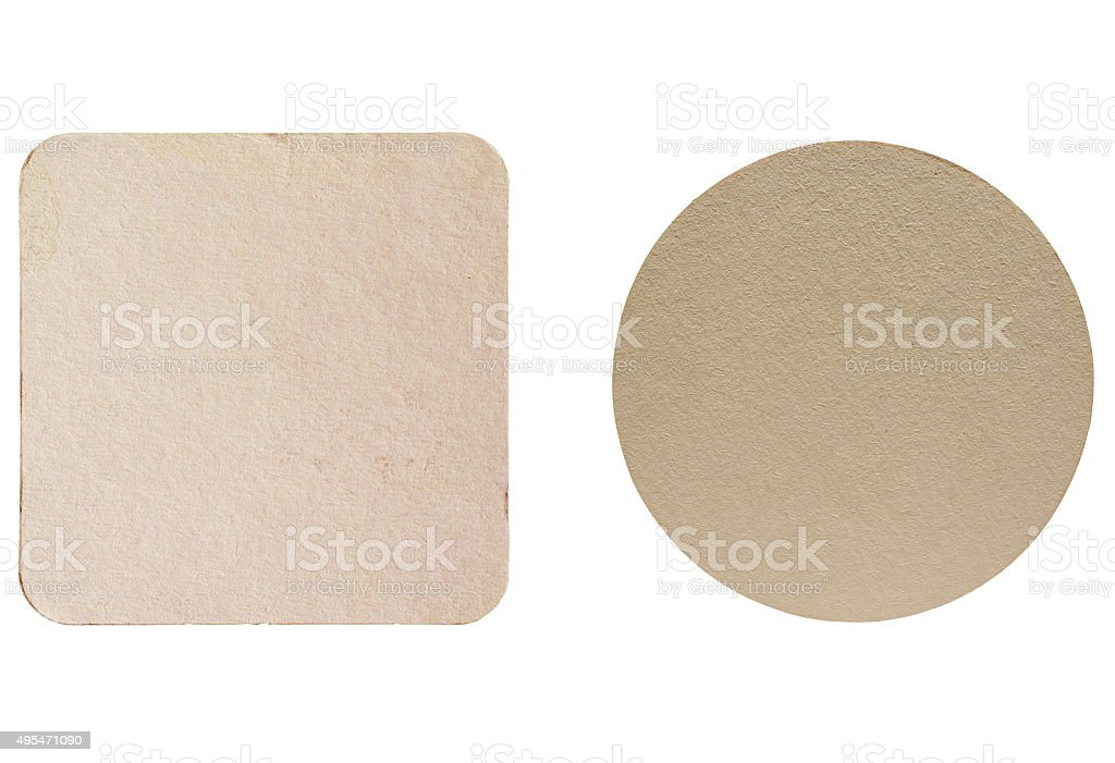 Beermat drink coaster isolated stock photo