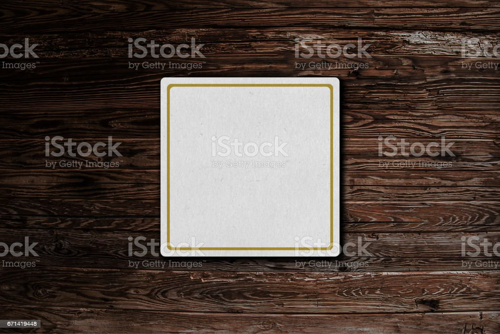 Beermat drink coaster stock photo