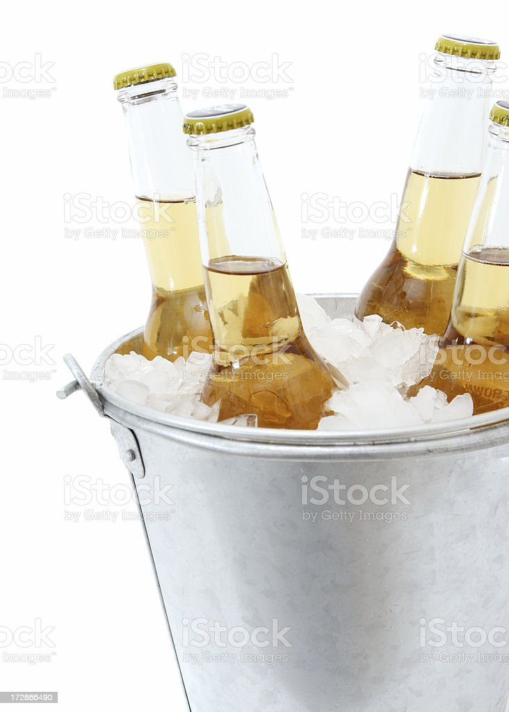 Beers in a Bucket of Ice royalty-free stock photo