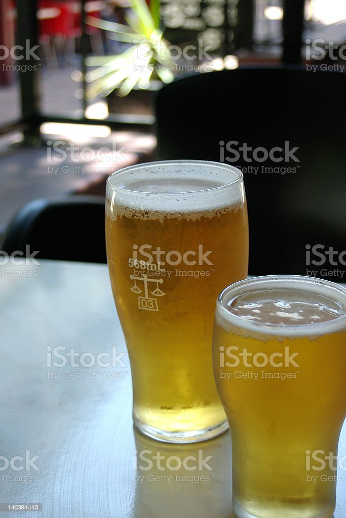 Beers on table royalty-free stock photo