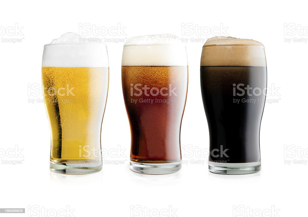 Beers with clipping path stock photo