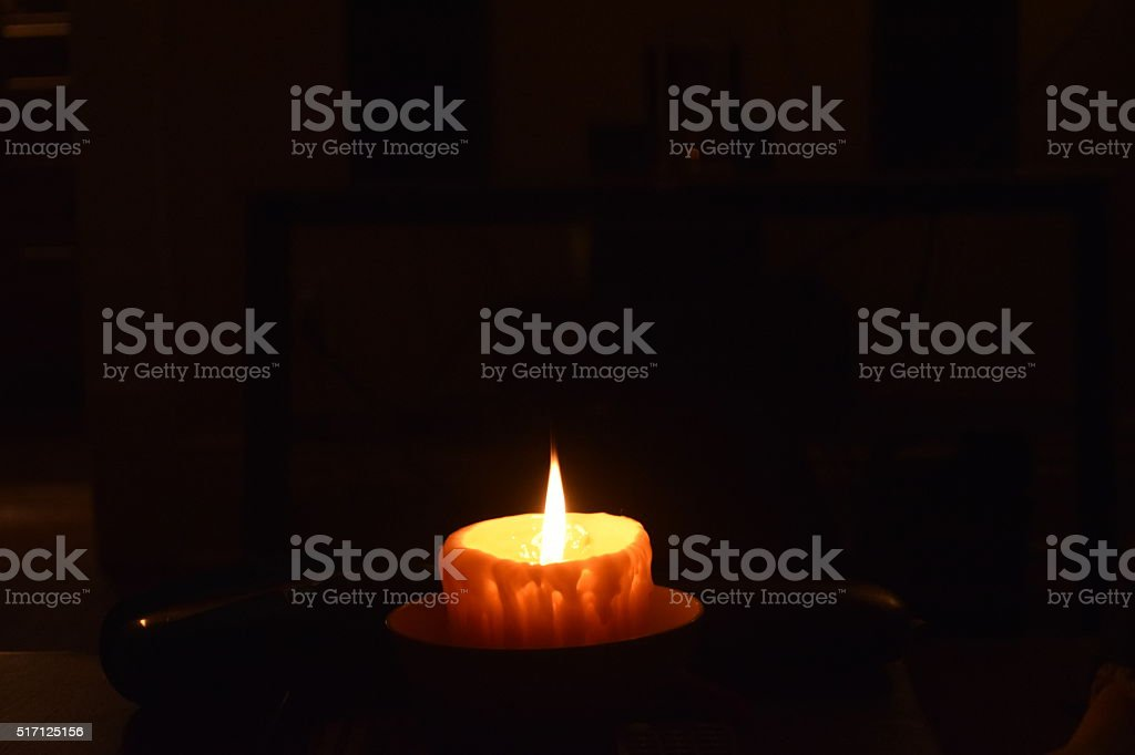 Beeswax Candle stock photo