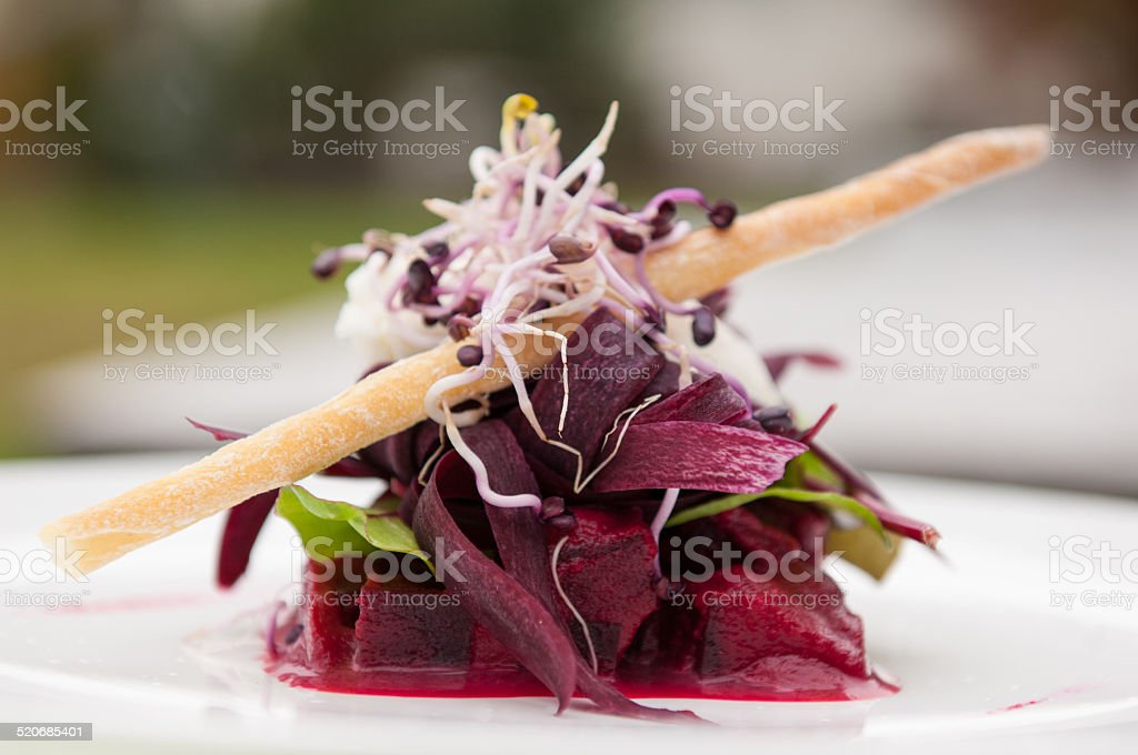 beet and cheese stock photo