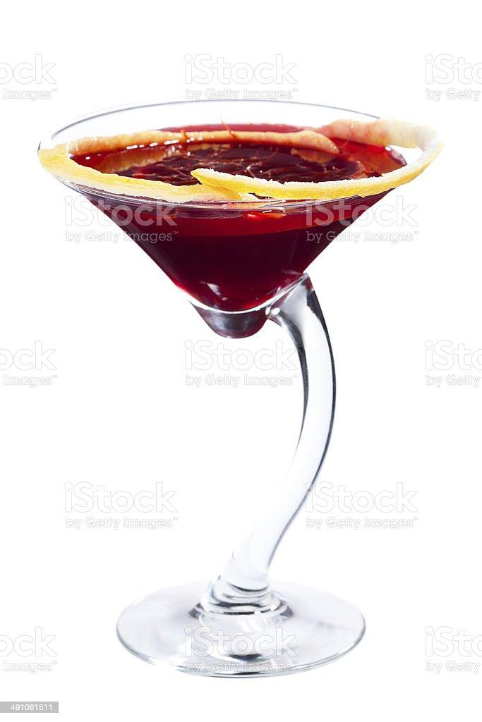 Beet martini cocktail stock photo