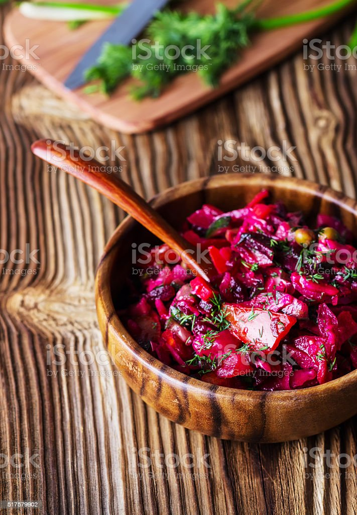 beet salad stock photo