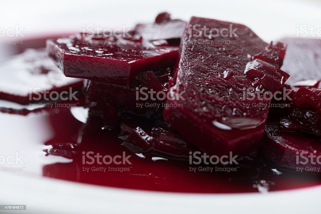 Beet slice preserved stock photo