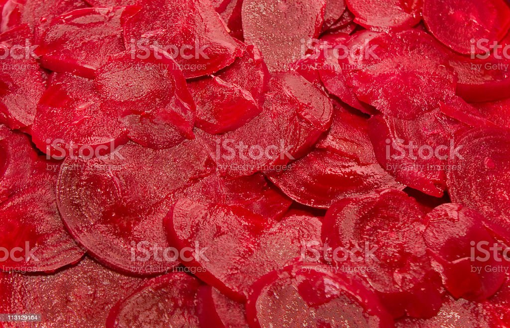 Beet Slices Close Up royalty-free stock photo