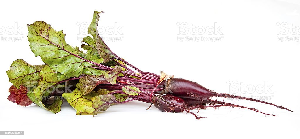Beet  with tops royalty-free stock photo