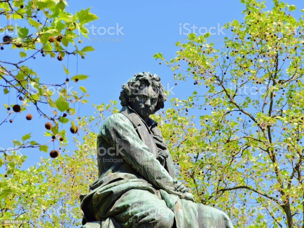 Beethoven Monument Vienna stock photo