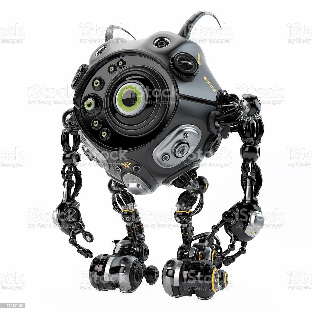 Beetle-like robotic creature stock photo