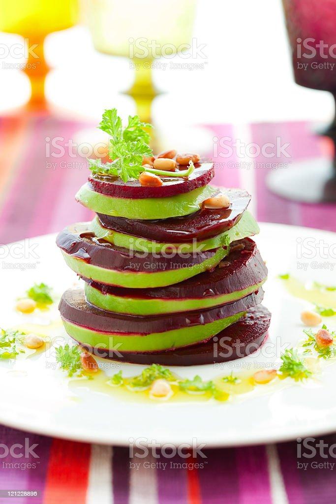 beetroot and avocado royalty-free stock photo