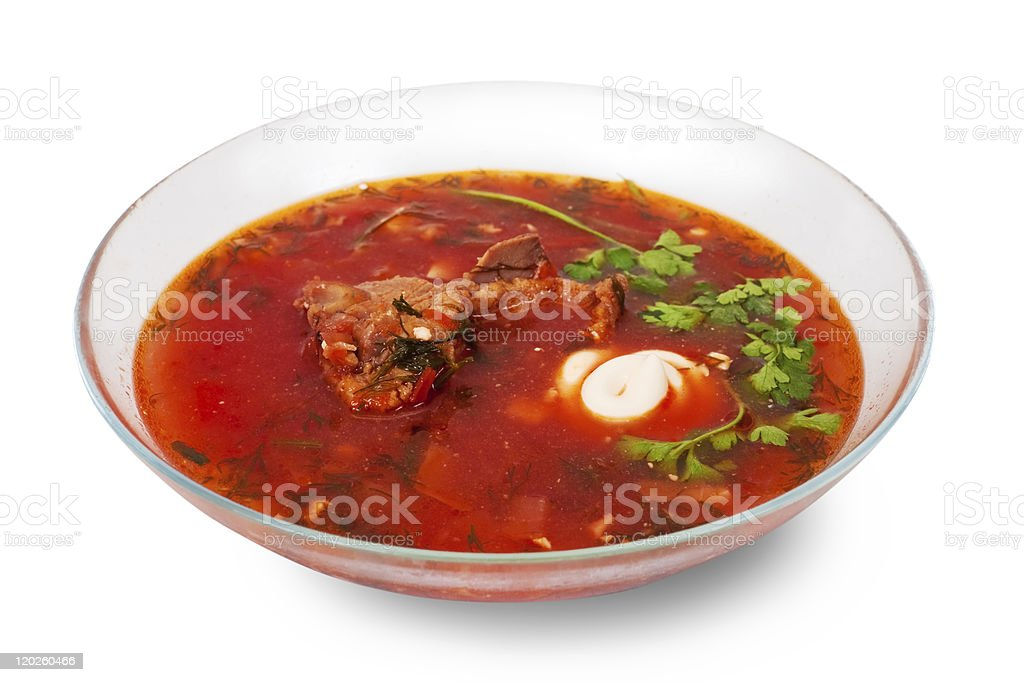 beetroot and cabbage soup royalty-free stock photo