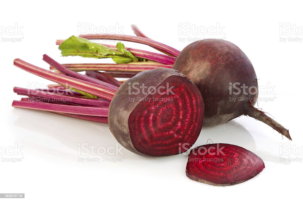 Beetroot on a white background. stock photo