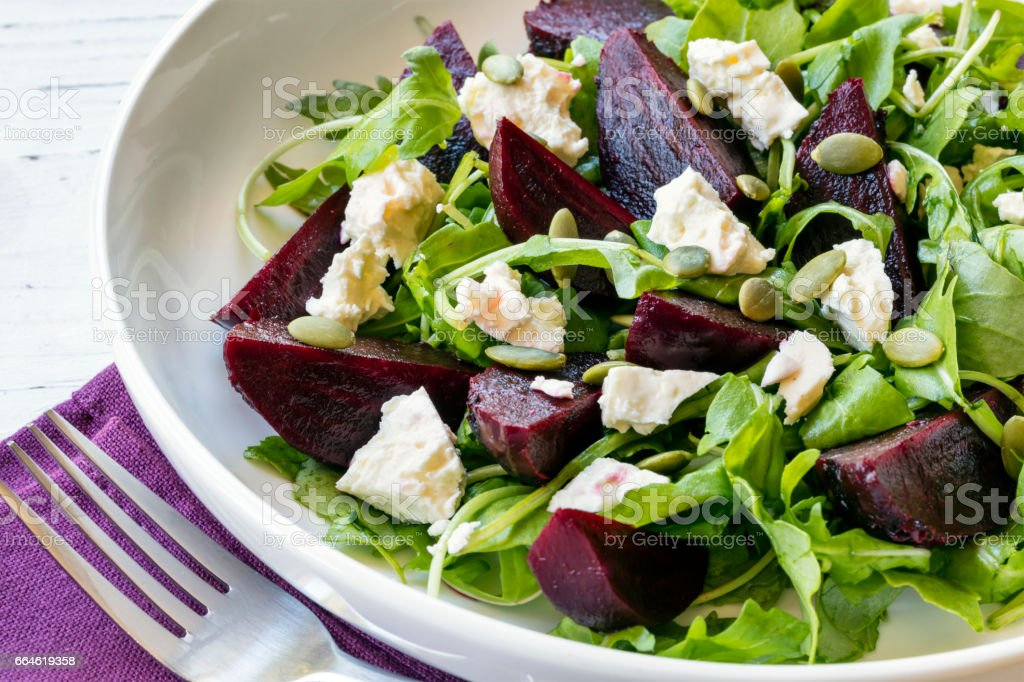 Beetroot Salad Side View stock photo