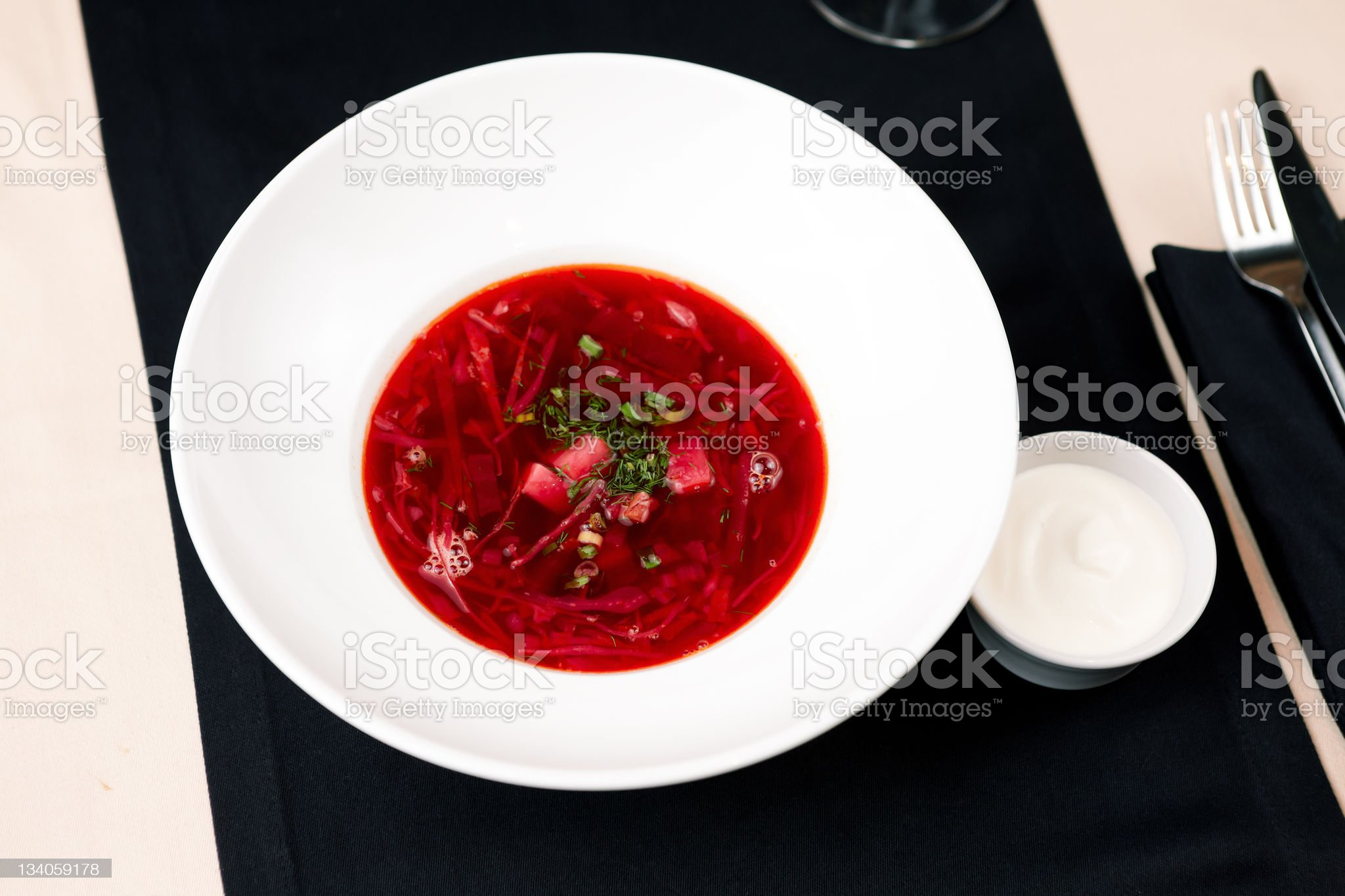 Beetroot soup royalty-free stock photo